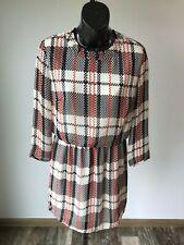 Honey Punch Red/White/Black Polyester Midi Dress - Small