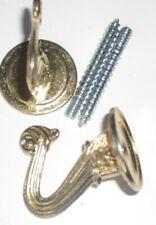 2 Tie Back Hooks  Brass Plated