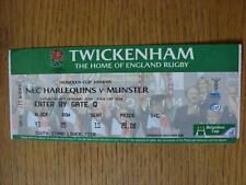 15/01/2005 Ticket: Rugby Union - At Twickenham - NEC Harlequins v Munster (Creas
