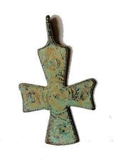 Byzantine style Bronze Cross pendant.