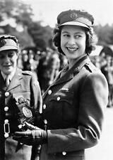WWII B&W Photo Princess Elizabeth Age 18 Military Service  WW2 World War / 1091