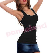 camiseta de tirantes suéter ANCHOS mujer pana top retro RECTO 5977