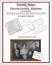 Family Maps Fayette County Alabama Genealogy AL Plat