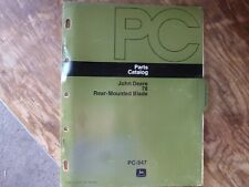 John Deere 78 Rear-Mounted Blade Parts Catalog Manual Book Original Pc-947
