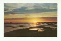 SUNSET AT CARLETON BEACH, OVERLOOKING CAPE BORDEN, P.E.I. CANADA CHROME POSTCARD