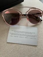 Christian Dior So Real-SH41OA368U Pink-Brown Wire Statement Sunglasses FREE SHIP