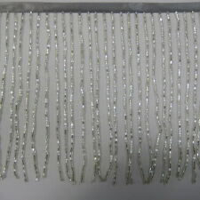 6 inch Glass Seed Bugle Beaded Fringe,for dace dress, Costume Trim,sold by yard