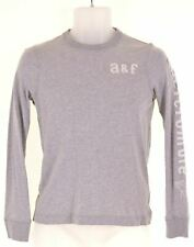 ABERCROMBIE & FITCH Boys Top Long Sleeve 11-12 Years Medium Grey Cotton  CD08