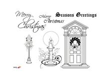 PERSONAL IMPRESS A6 Clear Stamps CHRISTMAS IMAGE PICSA6342 Lampost CANDLE DOOR