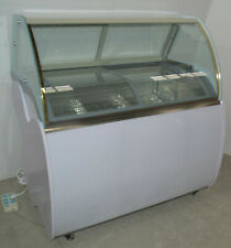 "39"" Commercial Popsicle Display Cabinet Ice Cream Ice-Lolly Showcase 220V 300W"