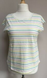 Boden Robyn Jersey Medium T Shirt Multi Faded Stripe BNWT
