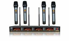 Professional wireless microphones 4 Channel Uhf Wireless microphone karaoke