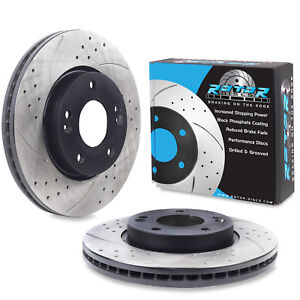 FRONT DRILLED GROOVED 280mm BRAKE DISCS FOR HYUNDAI COUPE i30 ix20 TUCSON 2.0