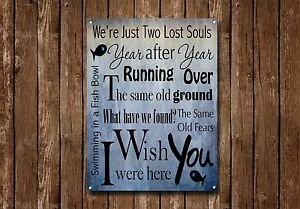 """""""Swimming In A Fish Bowl"""" Metal Sign, Verse, Modern, Inspirational Sign No.336"""