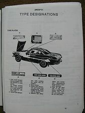 VOLVO P 1800 E  SE WORKSHOP MANUAL   BROCHURE 1800 1971