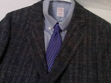 David Hunter Men's Blue Check Tweed Wool 2 Btn. Blazer Jacket 44 R (42 Best Fit)