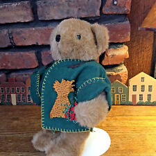 Autumn Bear With Handcrafted Green Felt Jacket 12 Inches