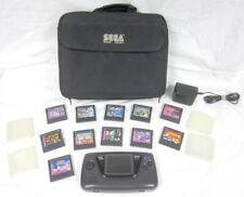 Sega Game Gear 2103 Portable 11 Video Game Console Bundle + Power Adapter & Bag