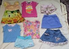 Lot of 8 Toddler Girls Clothes Shirts Shorts Skirts Size 4/5 Summer Spring Fall