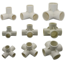 4Pcs PVC Water Pipe Tube Adapter Connectors 20m-50mm Diameter 3/4/5/6 Ways