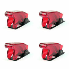 4x Toggle Switch Boot Plastic Safety Flip Cover Cap 12mm Clear Red At2