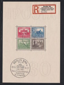 1930 NAZI Germany IPOSTA SS Block USED SS Gummed Reproduction Stamp sv