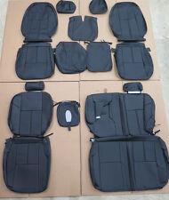 07 08 09 10 11 12 13 GMC Sierra Crew Katzkin Leather seat cover ft & Rear set