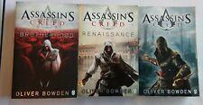Assassins Creed Libros X3 Hermandad Renacimiento revelaciones Oliver Bowden