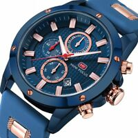 MINI FOCUS Hot Men's Fashion Business Date Luminous Silicone Quartz Wrist Watch