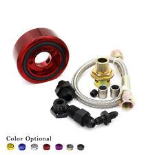 Aluminum Oil/Gauge Filter Sandwich Adapter Plate Cooler Line Kit for ACURA HONDA