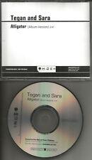 TEGAN AND SARA Alligator ULTRA RARE 2009 PROMO Radio DJ CD single USA MINT