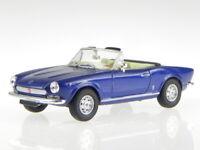 Fiat 124 Spider blue diecast model car Starline 1/43
