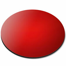 Round Mouse Mat - Red Filter Colour Block Office Gift #15751