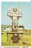 Norfolk Postcard - The Town Sign - Downham Market     B490