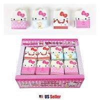 Sanrio Hello Kitty Kitty Face Die-cut Erasers School Stationery 4pcs Set