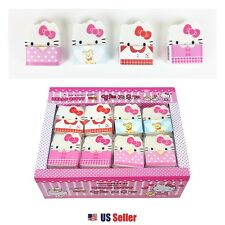 New Sanrio Hello Kitty Kitty Face Die-cut Erasers School Stationery 4pcs Set