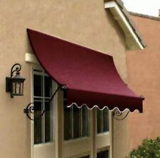 "Awntech 6' Charleston Window or Entry Awning, 44"" x 36"", Burgundy"