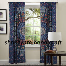 Indian Ombre Mandala Curtains Drapes Wall Decor Curtain Boho Tapestry Valances