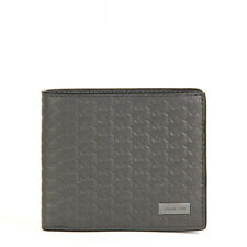 11ab01fe7fe9 NWT 4653 AUTH Michael Kors Double Billfold GREY Men Wallet in Leather  36T6SMNF1X