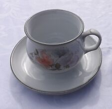 Denby Encore Sweet Pea Design 1 Duo Tea Cup and Saucer Excellent Used Condition