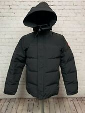 $850 CANADA GOOSE MACMILLAN BLACK SLIM FIT HOODED PARKA COAT SIZE MEDIUM