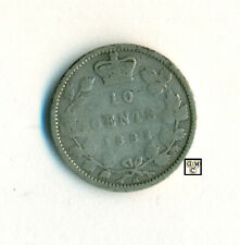 1882 H  Canada 10cents Coin ; Very Good  ; CPF