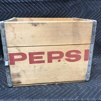 Vintage Wood Wooden Pepsi Cola Crate Box Rare 16x12x12 Inches Springfield, Mo