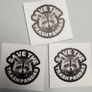 Trash Panda Stickers 3 Inch Decal HEAVY DUTY Raccoon 🦝 sticker Lot  3 pack