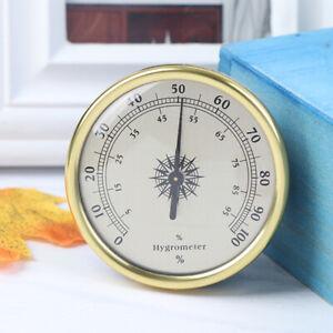 Indoor Outdoor 72MM Gold Diameter Hygrometer Temp Wet Hygrometer Meter +/-7 NWCA