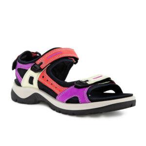 Ecco OFFROAD Womens Multicolor Hibiscus Nubuck Adjustable Strap Sandals Shoes