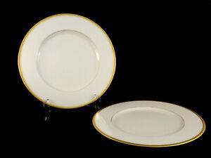 "2 Lenox Tuxedo 10 1/2"" Dinner Plates Gold Backstamp J-33 USA Qty Avail"