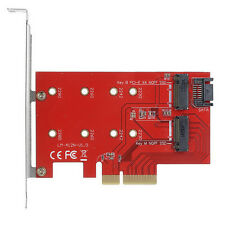 M.2 NGFF 4 Lane SSD to PCI-E 3.0 x4 & NGFF to SATA Adapter for XP941 PM951 SSD