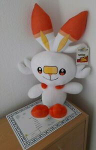 NEW FROM BUILD A BEAR ONLINE EXCLUSIVE POKEMON SCORBUNNY + CERTIFICATE BNWT'S