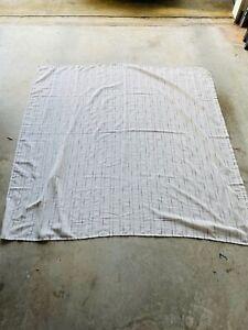 Threshold Linen Blend Shower Curtain Ivory Black Stripes Rustic